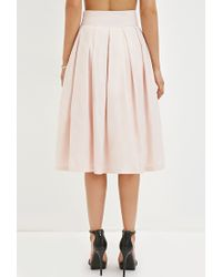 Forever 21 - Pink Pleated A-line Skirt - Lyst