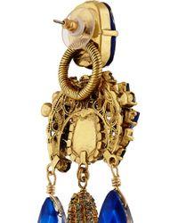 Erickson Beamon - Blue Telepathic Gold-Plated Swarovski Crystal Earrings - Lyst