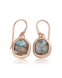 Monica Vinader - Pink Siren Wire Earrings - Lyst