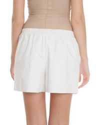 3.1 Phillip Lim - White Silk Hem Shorts - Lyst