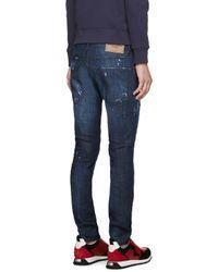 DSquared² - Blue Burned Baffo Clement Jeans for Men - Lyst