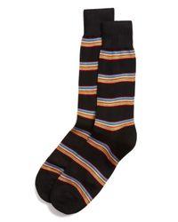 Paul Smith   Black Multi Stripe Socks for Men   Lyst