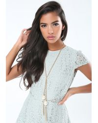 Bebe - Metallic Chainlink Lariat Necklace - Lyst