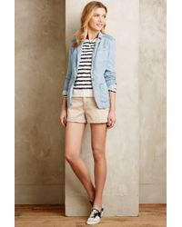 Anthropologie - White Stripewise Pullover - Lyst