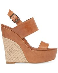 Jessica Simpson | Brown Anika Espadrille Platform Wedge Sandals | Lyst