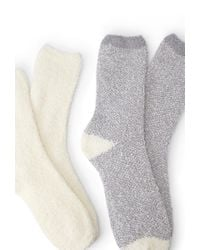 Forever 21 - Natural Fuzzy Knit Sock Pack - Lyst