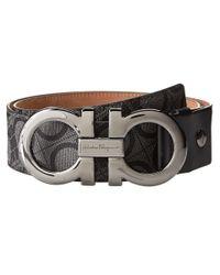 Ferragamo - Black Double Gancini Adjustable Belt 679161 for Men - Lyst