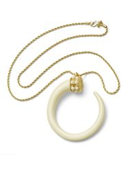 Kenneth Jay Lane | Metallic Ivory Tusk Necklace | Lyst