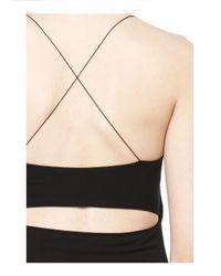 Alexander Wang - Black Cutout Modal Cami Dress - Lyst