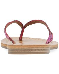 Lucky Brand - Red Women's Amberr Flip Flops - Lyst