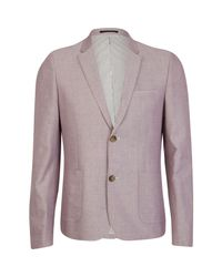 River Island | Light Pink Double Button Oxford Blazer for Men | Lyst