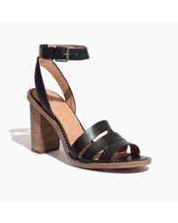 Madewell - Black The Adler Strappy Sandal - Lyst