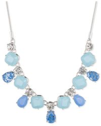 Nine West | Metallic Silver-tone Crystal And Stone Necklace | Lyst