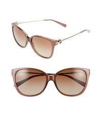 Michael Kors - Brown Collection 'glam' 57mm Retro Sunglasses - Lyst