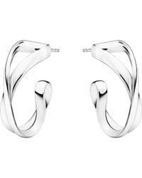 Georg Jensen | Metallic Infinity Sterling Silver Earrings | Lyst