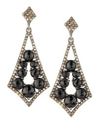 Bavna | 1.53 Tcw Diamonds, 8.47 Ct Black Spinel & Sterling Silver Earrings | Lyst