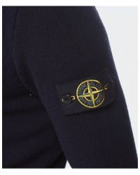 Stone Island - Blue Cotton Sweater  for Men - Lyst