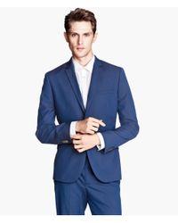 H&M | Blue Blazer Regular Fit for Men | Lyst