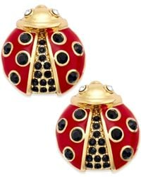 kate spade new york | Red Gold-tone Little Ladybug Stud Earrings | Lyst