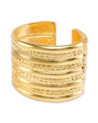 Kenneth Jay Lane | Metallic Braid Design Cuff Bracelet | Lyst