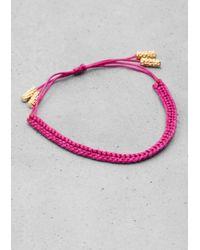 & Other Stories | Pink Thread Bracelet | Lyst