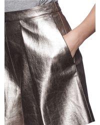 MSGM - Metallic Bloomer Shorts - Lyst