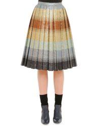 Marco De Vincenzo   Multicolor Pleated Degrade Shimmer Skirt   Lyst