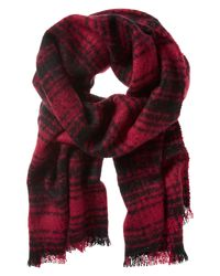 Banana Republic | Red Farrah Plaid Scarf | Lyst