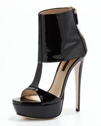 Ruthie Davis   Black Ashlee Patent Leather Platform Sandal   Lyst