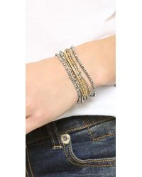 Chan Luu - Gray Layered Strand Bracelet - Grey Mix - Lyst