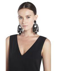 BCBGMAXAZRIA - Black Oversized Rhinestone Cocktail Earrings - Lyst