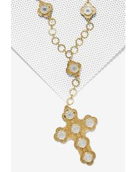I Still Love You Nyc - Metallic Luxe Chain Cross Necklace - Lyst