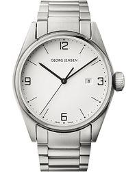 Georg Jensen - Metallic Delta Classic Stainless Steel Watch 42mm - Lyst