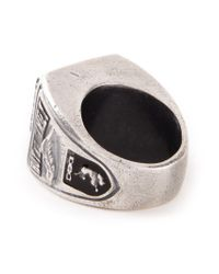Diesel Black Gold | Metallic Chunky Ring for Men | Lyst