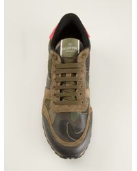 Valentino - Brown Lace Up Trainers - Lyst