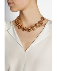 Tory Burch - Metallic Leah Goldplated Crystal Necklace - Lyst