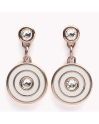 Tommy Hilfiger | Pink Coin Drop Earrings | Lyst