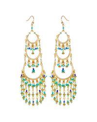 Sequin | Blue Seed Bead Chandelier Earrings | Lyst