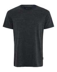 Paul Smith | Blue Teal Melange Striped Cotton T-shirt for Men | Lyst