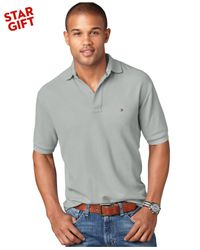Tommy Hilfiger | Gray Classic-Fit Ivy Polo for Men | Lyst
