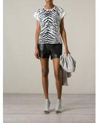 Saint Laurent | White Zebra Print Tshirt | Lyst