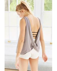 Silence + Noise | Brown Modern Twist-back Tank Top | Lyst