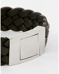 Seven London - Brown Woven Bracelet for Men - Lyst