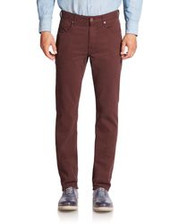 Incotex | Red Cotton Stretch Casual Pants for Men | Lyst