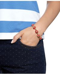 Brooks Brothers | Red Enamel Knot Link Bracelet | Lyst