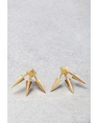 Forever 21 - Metallic Makko Triple Spike Earrings - Lyst