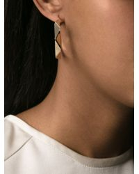 KENZO - Metallic Twisted Hoop Earrings - Lyst