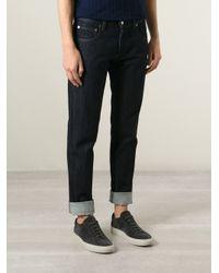 Giorgio Armani - Blue Straight Leg Jeans for Men - Lyst