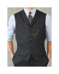 RRL - Gray Glen Plaid Wool Vest for Men - Lyst