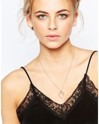 Daisy London | Metallic Exclusive Laura Whitmore Gold Plectrum Necklace - Gold | Lyst